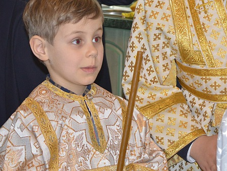 Син Кароль прислуговує в Іллінській церкві (фото)