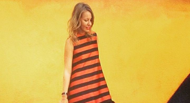 Собчак кинула виклик пропаганді РФ: вдягла «георгіївську» сукню (фото)