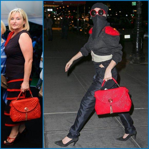 Дружина Луценка і Леді Гага носять однакові сумки (ФОТО)