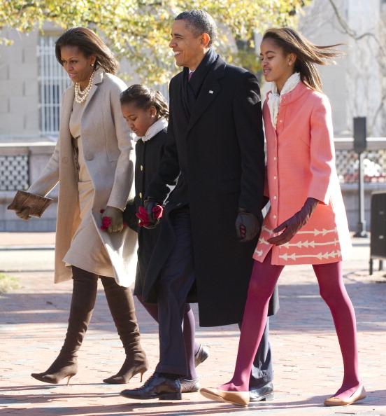 US President Barack Obama, First Lady Mi