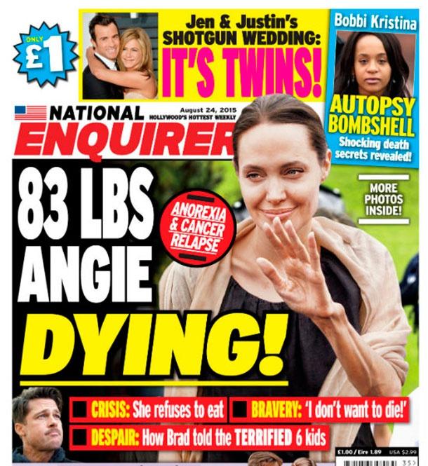 Анджелина джоли весит 35 кг