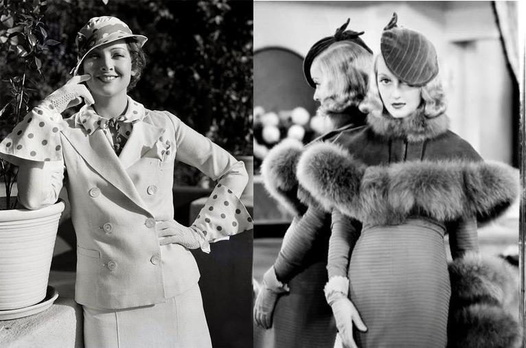 Одежда и аксессуары в стиле 30-х годов