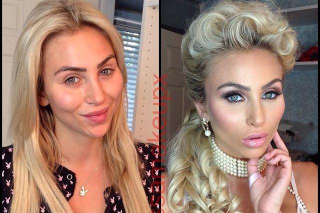 Найвідоміші моделі Playboy до і після макіяжу (ФОТО)