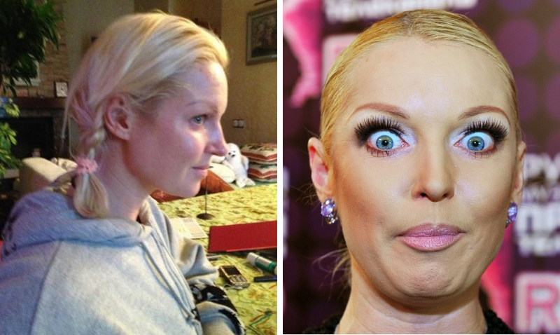 звезды шоу бизнеса без макияжа фото российские