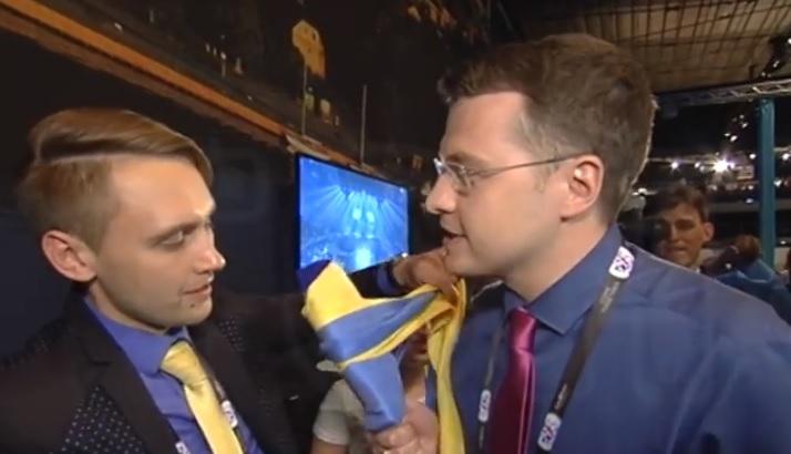 Український журналіст дав жорстку відсіч пропагандистові з РФ, якого обурила «Слава Україні» (ВІДЕО)