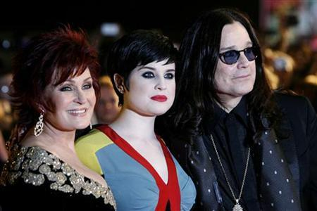 Sharon, Kelly and Ozzy Osbourne arrive at Brit Awards at Earls Court in London