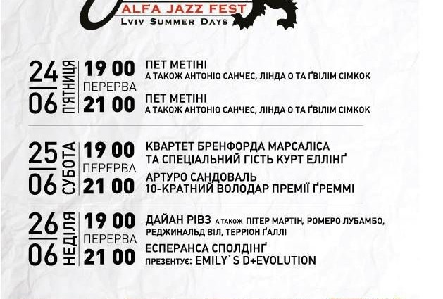 Alfa Jazz Fest 2016: програма та безкоштовні локації.