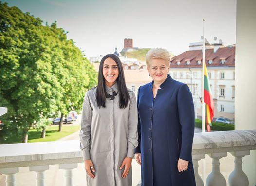 Джамала в скромній сукні зустрілася з президентом Литви (фото)