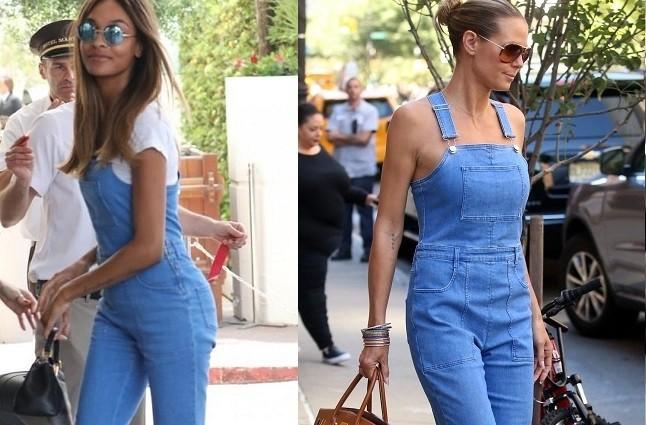Джордан Данн vs Хайді Клум: як моделі носять джинсовий комбінезон (фото)