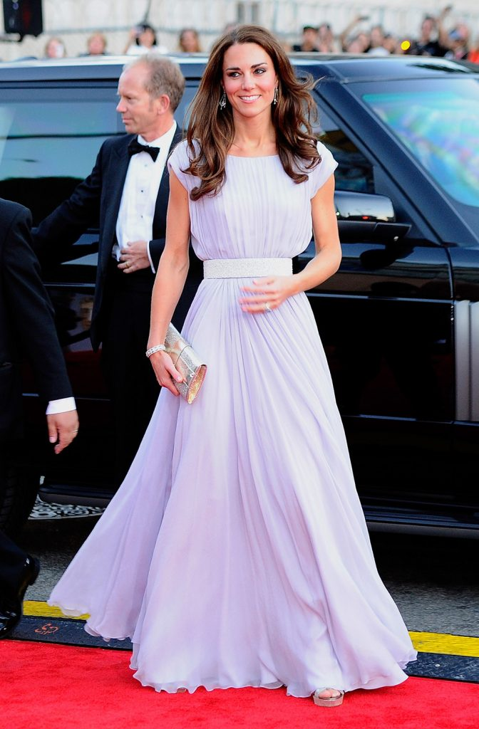 LOS ANGELES, CA - JULY 09:  Catherine, Duchess of Cambridge arrives at the BAFTA Brits To Watch event held at the Belasco Theatre on July 9, 2011 in Los Angeles, California.  (Photo by Kevork Djansezian/Getty Images)