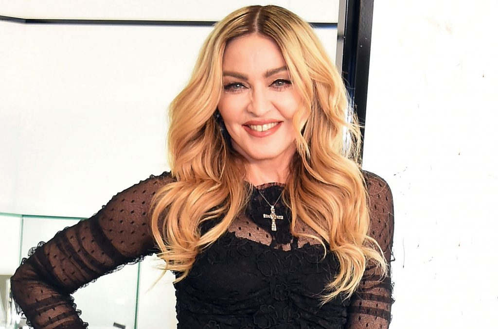 TOKYO, JAPAN - FEBRUARY 15:  Madonna attends the promotional event for