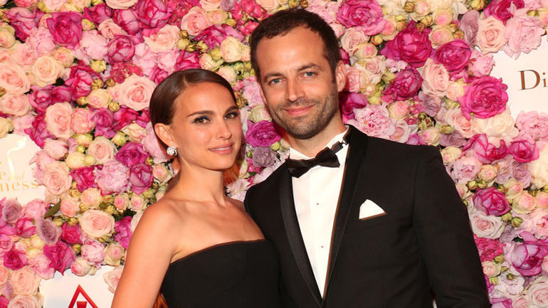 CANNES, FRANCE - MAY 16:  Natalie Portman and Benjamin Millepied attend the 'A Tale of Love and Darkness' :  Party during the 68th annual Cannes Film Festival on May 16, 2015 in Cannes, France.  (Photo by Gisela Schober/Getty Images)