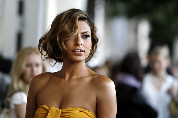 Cast member Eva Mendes attends the premiere of