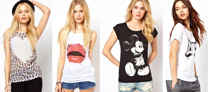 5 модных способов носить футболку