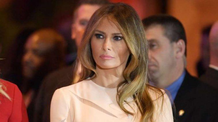 Розповніла Меланія Трамп показала животик у пишній сукні