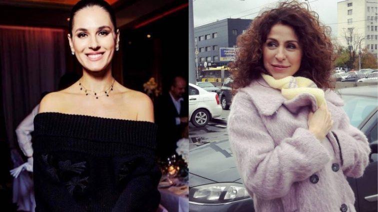 Маша Єфросиніна і ведуча Надія Матвеєва засвітилися у однакових сукнях